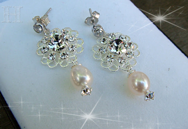 Sparkle Dangle Earrings with Swarovski