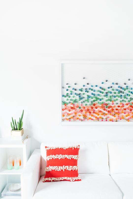 Pletivo + farebný papier - dokonalé umenie