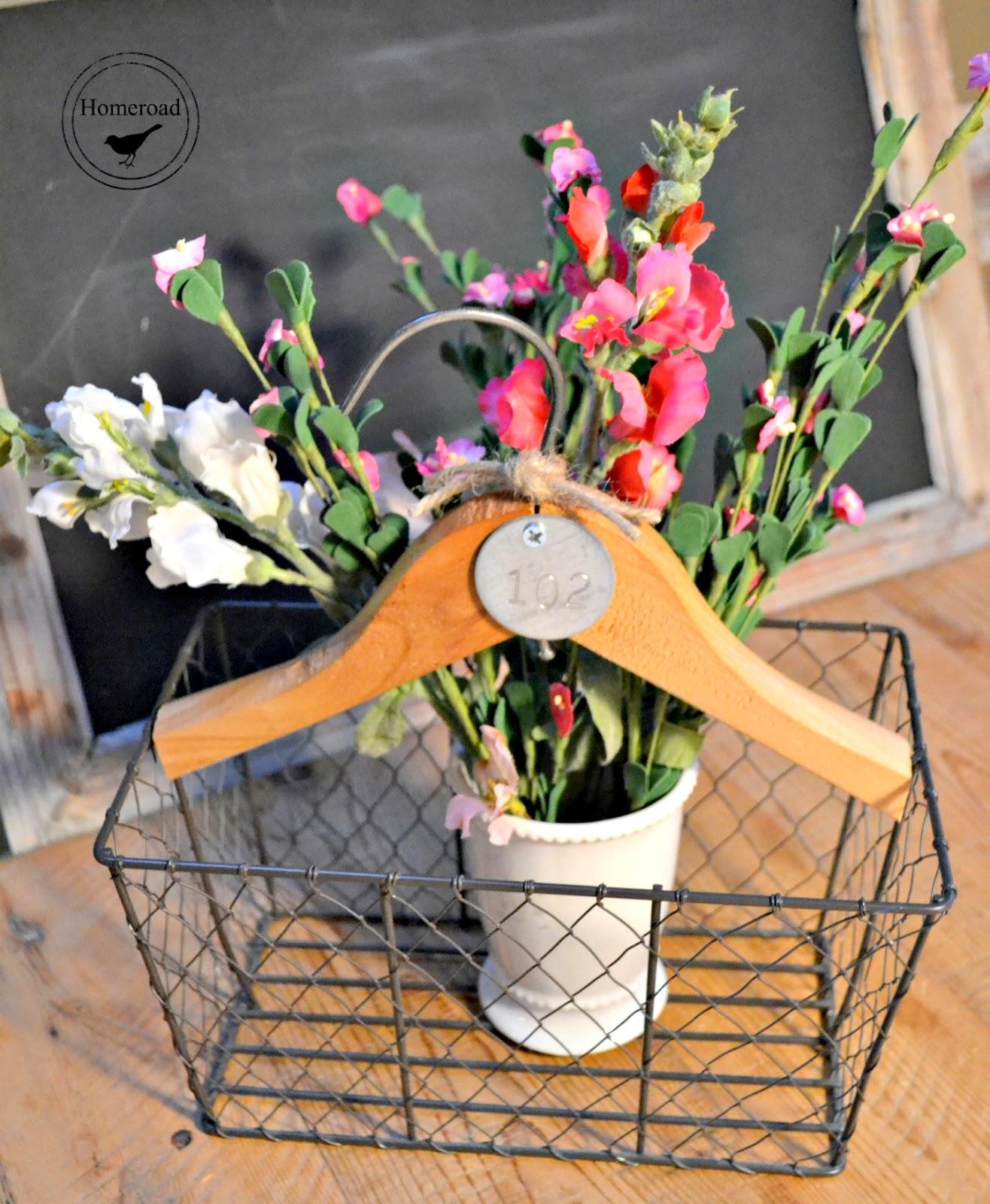 vintage hanger hanging basket www.homeroad.net