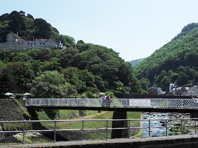 Bridge over River Lyn at Lynmouth Devon
