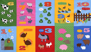 BARNYARD COUNTING ROBERT KAUFMAN FABRICS | APRIL 2013