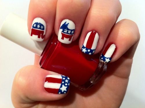 Lush fab glam blogazine get patriotic with red white blue nail read on for more independence day nail art inspiration which red white and blue nail design prinsesfo Image collections