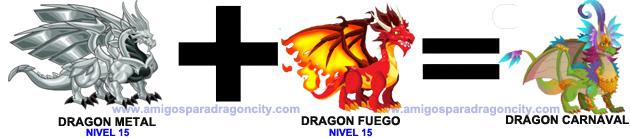 como sacar el dragon carnaval en dragon city combinacion 2