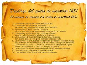 Decalogo del Centro de Maestros 1431
