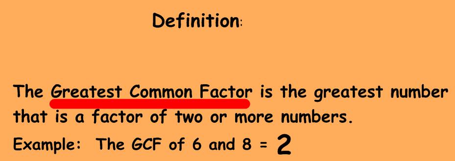 Homework help greatest common factor