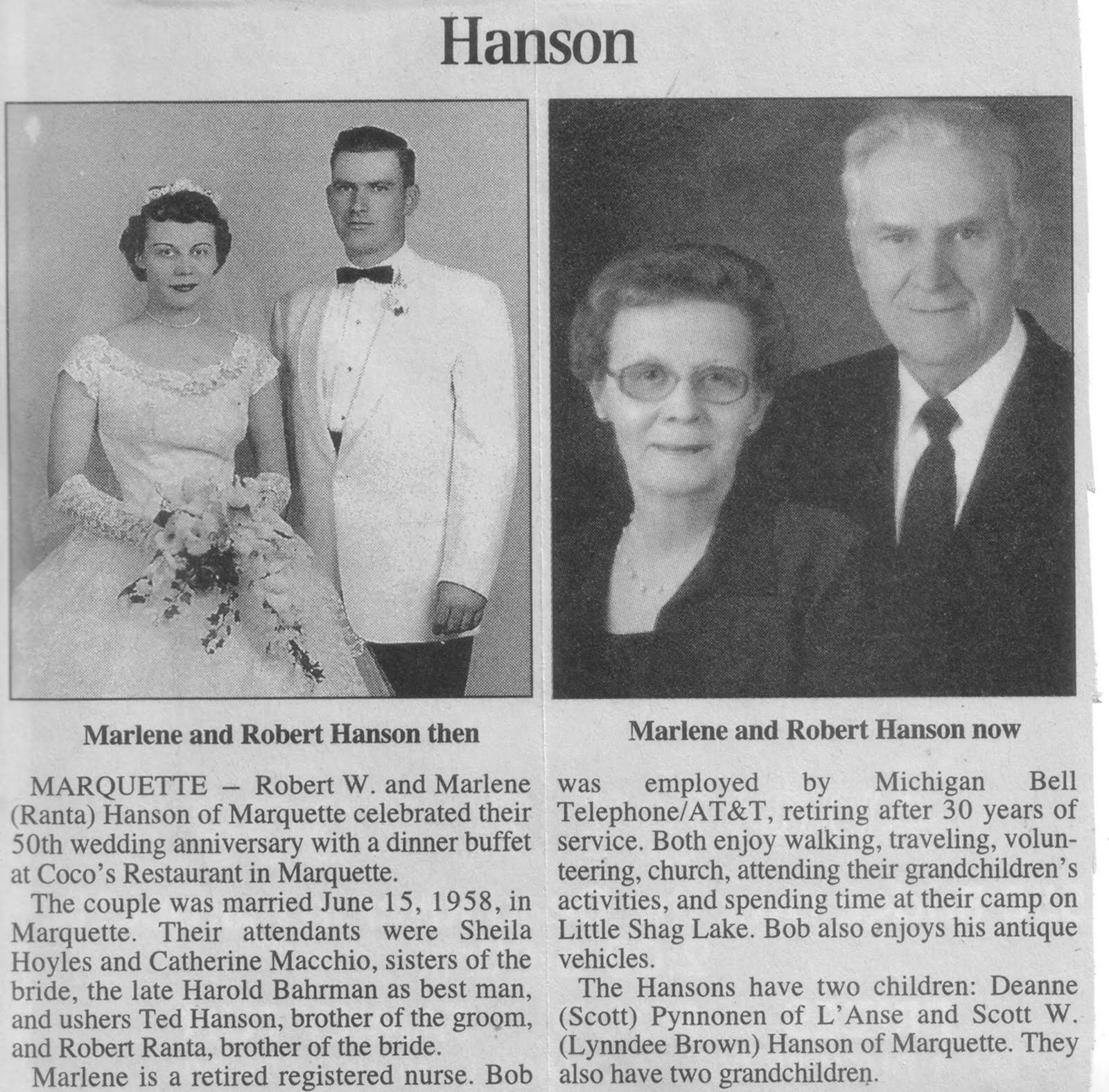 Newspaper Wedding Announcement: From Sweden To Michigan: November 2011
