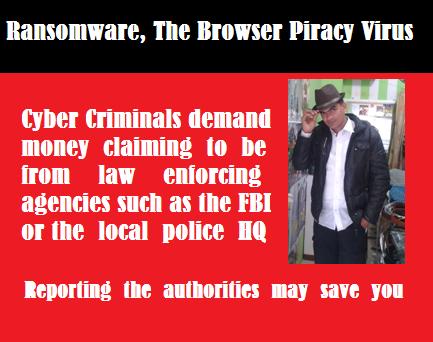 Ransomware virus or Browser Piracy virus Demands Money