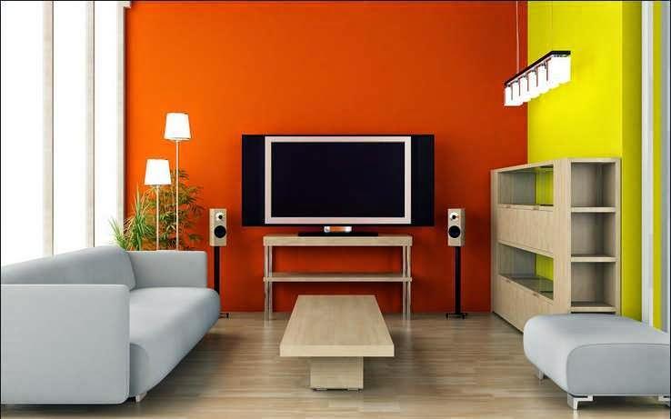 Kombinasi warna orange dan kuning