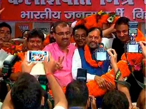 Four rebel JDU MLAs join BJP