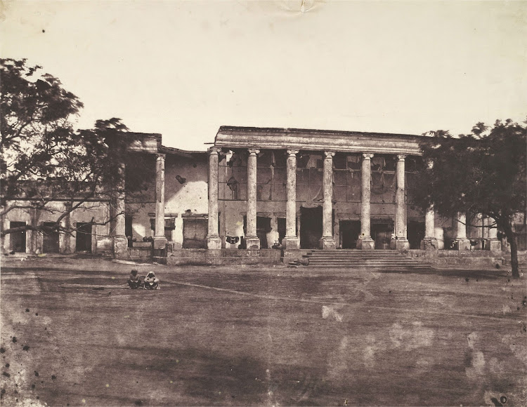 College Building in Delhi, Damaged by Indian Mutiny of 1857 - Photograph Taken by Dr. John Murray in 1858