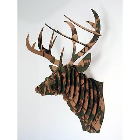 Cabeza ciervo de cart n un puzzle 3d decorativo el regalo original - Cabeza ciervo carton ...