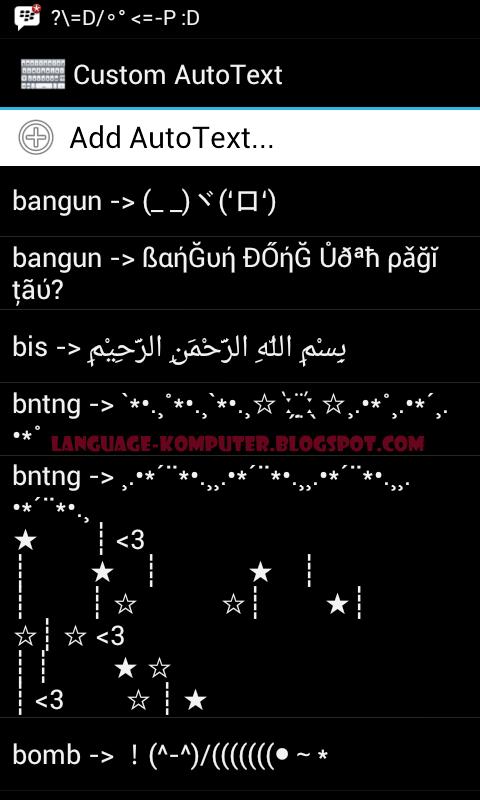 kumpulan autotext bbm android