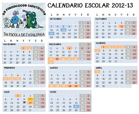 CALENDARIO ESCOLAR 2012-13