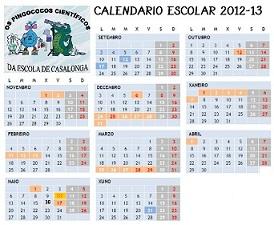 CALENDARIO ESCOLAR 2012-13