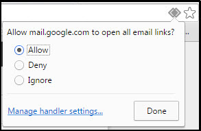 how to set a default email for chrome