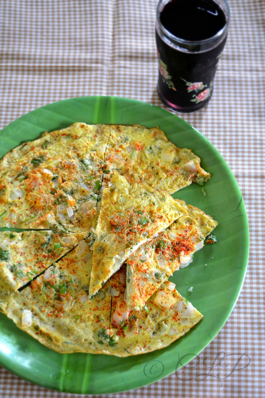 Omlette with spices
