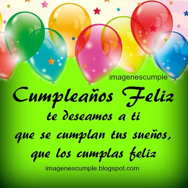 Tarjeta con canción de cumpleaños, imagen bonita para felicitar cumple, felicidades