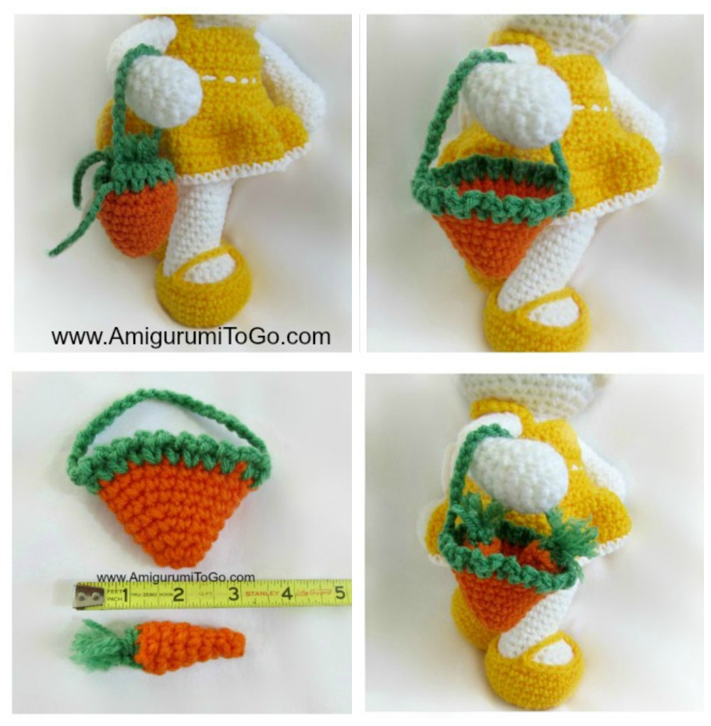 crochet bag with carrots
