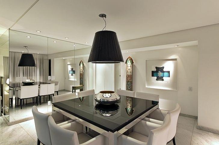 Sala De Jantar Mesa Quadrada ~ Arquitetura Feminina Iluminação Sala de Jantar  Lustre e Pendente
