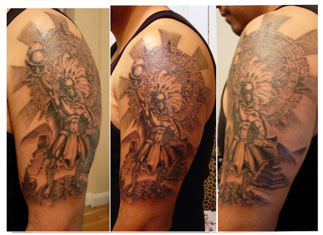 Of The Aztec Warriors Tattoos Mexican Or Aztec Art Tattoos Offer You A