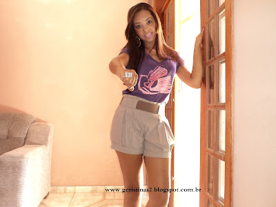 Shorts social + Blusinha lilás