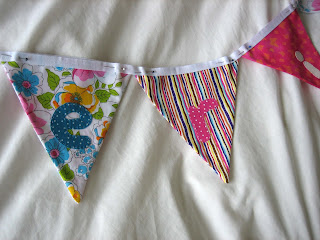 Photo of handmade name bunting