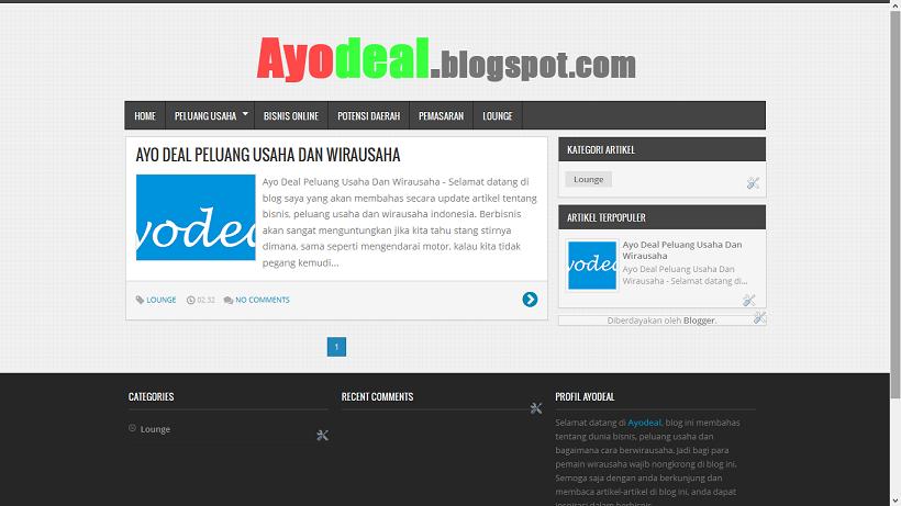 Ayodeal - Peluang Usaha Membuat Template Blogspot