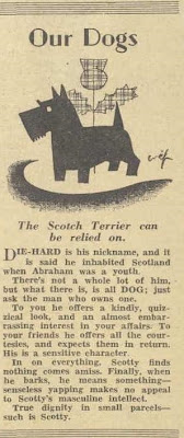 Scottie Dogs, From the Australian Women's Weekly, June 1933