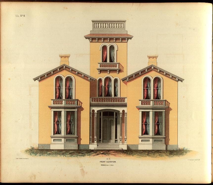the picturesque style italianate architecture painting