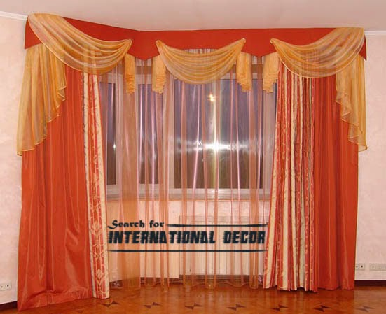 orange curtains,bedroom curtains,window treatments,bedroom curtain ideas