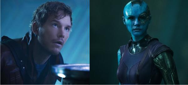Nebula, Peter Quill e Gamora em imagens inéditas de Guardiões da Galáxia