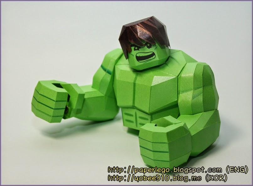 Making Lego Hulk Papercraft - Head