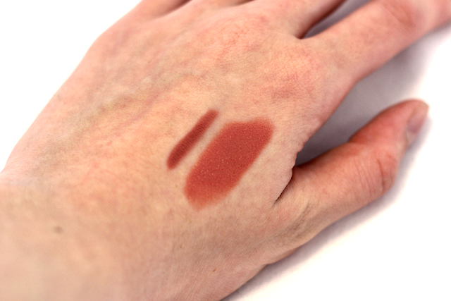 Charlotte Tilbury Lip Cheat Lip Liner in Pillow Talk and Lipstick in Bitch Perfect Swatches