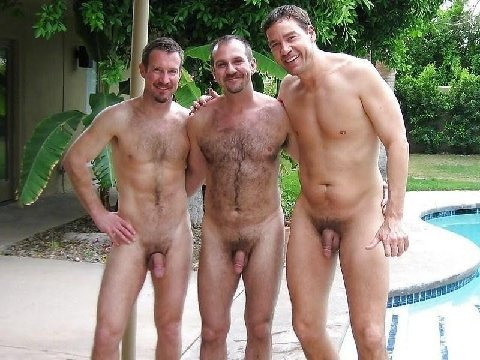 male nude pool party