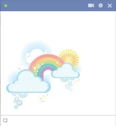 Facebook Rainbow Emoticon