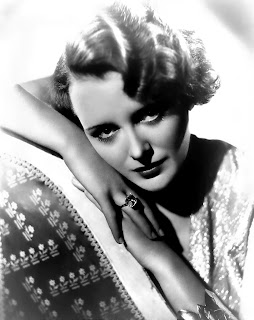 Vintage black and white photo of actress Mary Astor