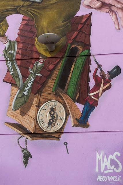 Street Art Piece By Macs For the 24th Biennale Del Muro Dipinto In Dozza, Italy 3