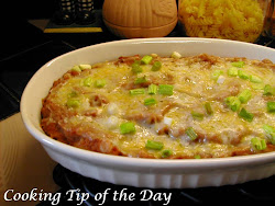 Refried Beans with Cheese and Green Onions