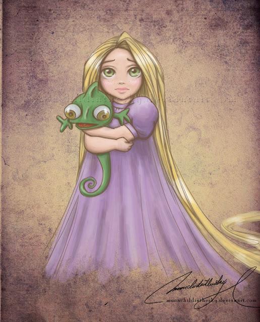 Принцессы Диснея - Страница 2 Child_rapunzel_by_moonchildinthesky-d3dqzn9