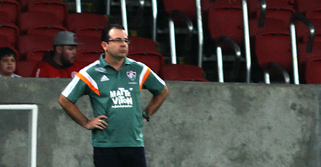Técnico admite prejuízo causado por Marcos Junior, mas também cobrou arbitragem (Foto: Nelson Perez/Fluminense F.C.)