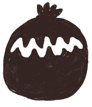 黒いゴミ袋のイラスト(掃除)線画