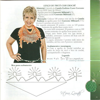 Leno em tricot e crochet com receita