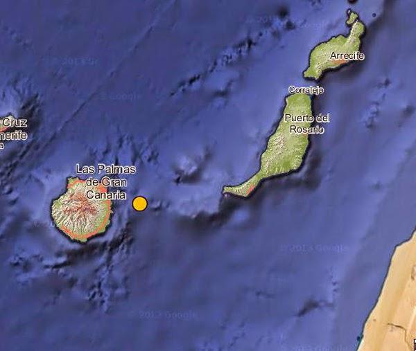 Terremoto Este Gran Canaria 1 marzo