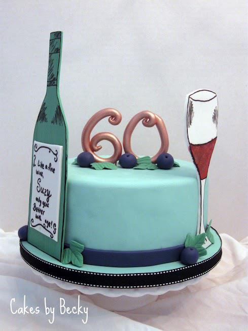Images Of Birthday Cake And Champagne : 60th Birthday Cake heydanixo
