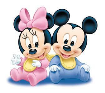 Mickey y minnie mouse bebe