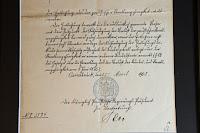 Hermann Heinrich Wenning Emigration Document