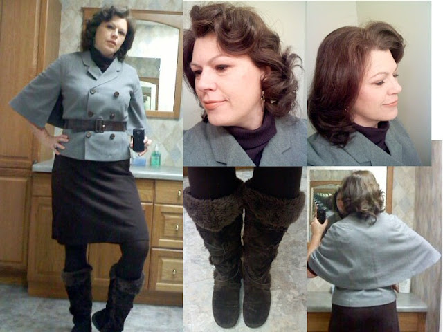 Capelet and boots
