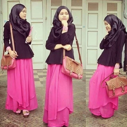 pink-dress-hijab-top-black-2015
