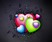 Imagens de Fundo: Imagem de FundoDesenho de corações em varias cores em . (desenho de coracoes em varias cores imagens imagem de fundo wallpaper para pc computador tela gratis ambiente de trabalho)