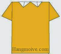 Bước 9: Hoàn thành cách xếp áo phông có cổ bằng giấy theo phong cách origami